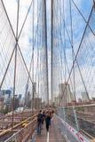 De Brug van Brooklyn in de Stad van New York Royalty-vrije Stock Afbeeldingen