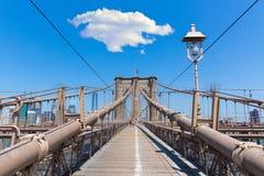 De Brug van Brooklyn en de Stad de V.S. van Manhattan New York stock foto