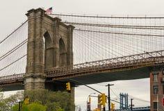 De Brug van Brooklyn en DUMBO Royalty-vrije Stock Foto