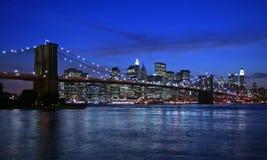 De Brug van Brooklyn en NYC Royalty-vrije Stock Afbeeldingen