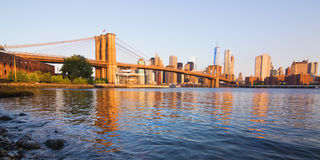 De brug van Brooklyn, Manhattan, New York Stock Afbeeldingen