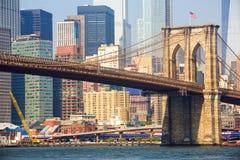 De Brug van Brooklyn in New York stock foto