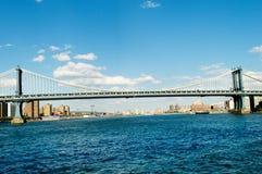 De brug van Brooklyn in New York Royalty-vrije Stock Afbeeldingen