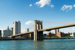 De brug van Brooklyn in New York Royalty-vrije Stock Foto