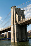 De brug van Brooklyn in New York Stock Fotografie