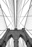 De Brug van Brooklyn in New York Stock Afbeeldingen