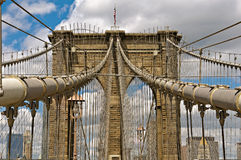 De Brug van Brooklyn in New York Stock Afbeelding