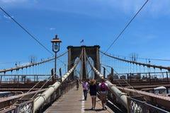 De brug van Brooklyn, New York royalty-vrije stock afbeeldingen