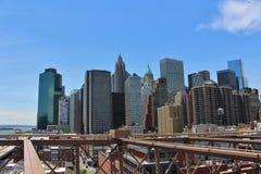 De brug van Brooklyn, New York stock afbeelding