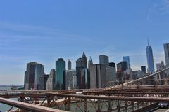 De brug van Brooklyn, New York stock afbeelding