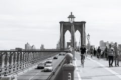 De Brug van Brooklyn in New York Stock Foto