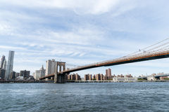 De Brug van Brooklyn in New York Royalty-vrije Stock Foto's