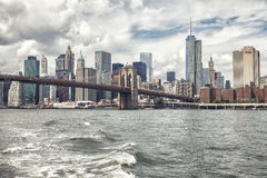 De brug van Brooklyn, New York Stock Afbeeldingen