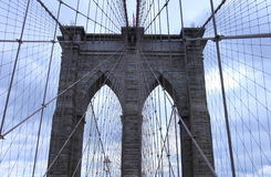 De brug van Brooklyn, New York Stock Foto