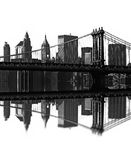 De brug van Brooklyn, New York, de V.S. vector illustratie