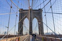 De Brug van Brooklyn, NYC Stock Afbeelding