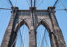 De Brug van Brooklyn, NYC Stock Foto's
