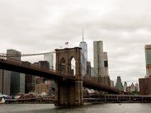 De Brug van Brooklyn, NYC Stock Afbeeldingen