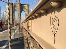 De Brug van Brooklyn in NYC, de V.S. Royalty-vrije Stock Afbeelding