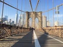 De Brug van Brooklyn in NYC, de V.S. Royalty-vrije Stock Foto's