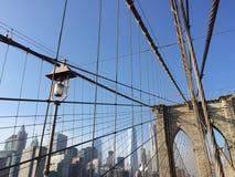 De Brug van Brooklyn in NYC, de V.S. Royalty-vrije Stock Afbeeldingen