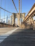 De Brug van Brooklyn in NYC, de V.S. Stock Afbeelding