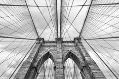De Brug van Brooklyn in NYC, de V.S. stock afbeelding