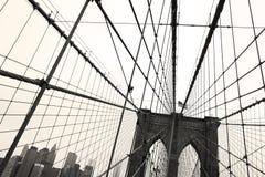 De Brug van Brooklyn, Sepia Royalty-vrije Stock Afbeeldingen