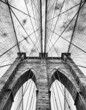 De Brug van Brooklyn in de Stad van New York stock afbeelding