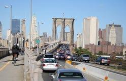 De brug van Brooklyn van de opstopping Royalty-vrije Stock Fotografie
