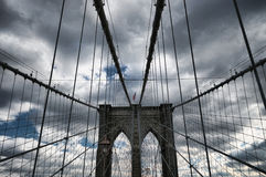 De Brug van Brooklyn van de Stad van New York Stock Afbeelding