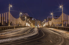 De brug van Brucke van Mittlere, Bazel, Zwitserland Stock Afbeelding