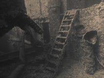 De brug van Capitan in Thistlegor Royalty-vrije Stock Foto's
