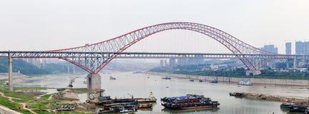 De Brug van Chaotianmen van Chongqing stock foto's