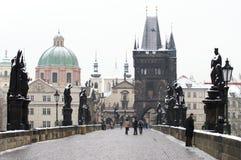 De brug van Charles, Praag Stock Foto