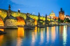 De brug van Charles, Praag, Tsjechische republiek stock afbeeldingen