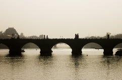 De brug van Charles, Praag, Tsjechische Republiek stock fotografie
