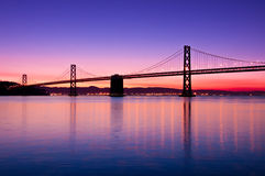 De Brug van de baai, San Francisco, Californië. Royalty-vrije Stock Fotografie