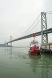 De Brug van de Baai van Oakland van de opschorting in San Francisco Stock Fotografie