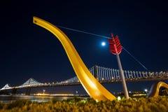De Brug van de Baai van San Francisco Stock Fotografie