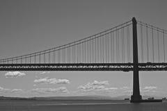 De Brug van de Baai van San Francisco-Oakland bij Nacht Royalty-vrije Stock Afbeelding
