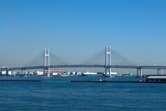 De Brug van de Baai van Yokohama Stock Fotografie
