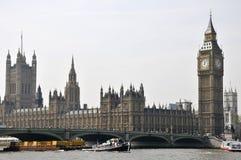 De Brug van de Big Ben en van Westminster, Londen Royalty-vrije Stock Foto