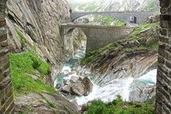 De brug van de duivel, Zwitserland Royalty-vrije Stock Foto