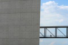 De brug van de fabriek Stock Fotografie