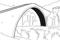 De brug van de gebochelde Stock Afbeeldingen