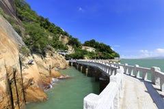 De brug van de granietsteen van gulangyueilandje Royalty-vrije Stock Foto