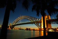 De brug van de haven stock fotografie