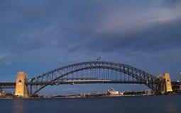 De brug van de haven Stock Afbeeldingen