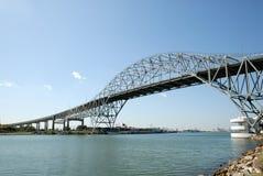 De brug van de haven in Corpus Christi Stock Foto
